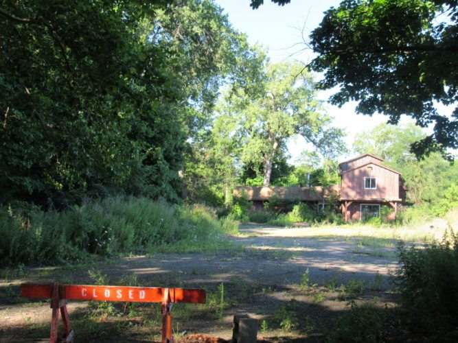 A photo of the former Hideaway Bay Restaurant before it was demolished. The Chautauqua County Land Bank Corporation is working to find a developer to rehabilitate the property. Submitted photo