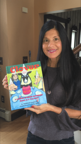 "Kathleen Lombardo of Gerry recently published her first book, a children's book entitled ""Clover."" The story tells of Lombardo's real-life pet cow, Clover, and encourages children to recognize and celebrate diversity among their peers. Submitted photos"