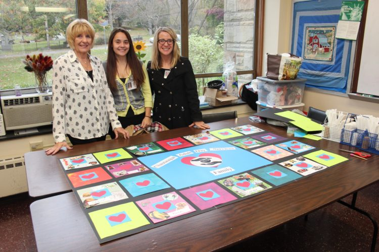 Students Victoria Carlson and Heather Cooke, have joined the seniors and staff at the Taft Center on Fridays.