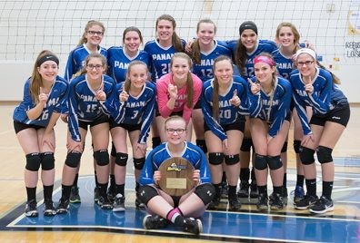 The Panama girls volleyball team will be making a return trip to Glens Falls  where it will attempt to defend its 2016 New York State Public High School Athletic Association title, beginning with pool play at 3 p.m. Saturday. Photo by Deb Bailey