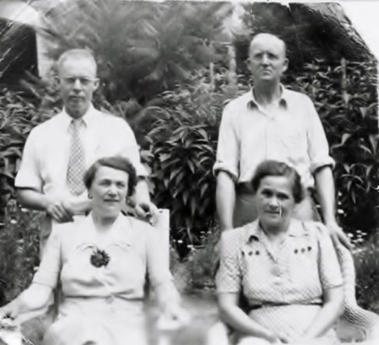 Carl and Gunhild Forsberg and Ben and Martha Johnson.  Photos courtesy of family archives