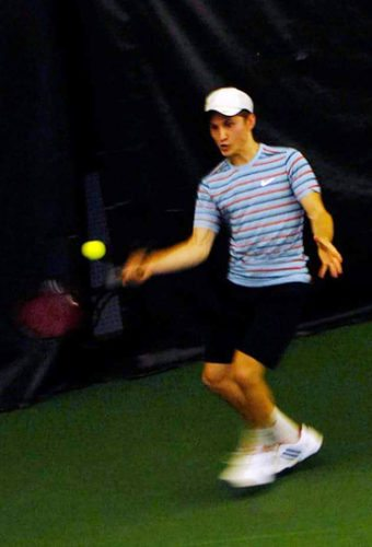 Connor Barnes returns a forehand Saturday at the Lakewood YMCA. Submitted photo
