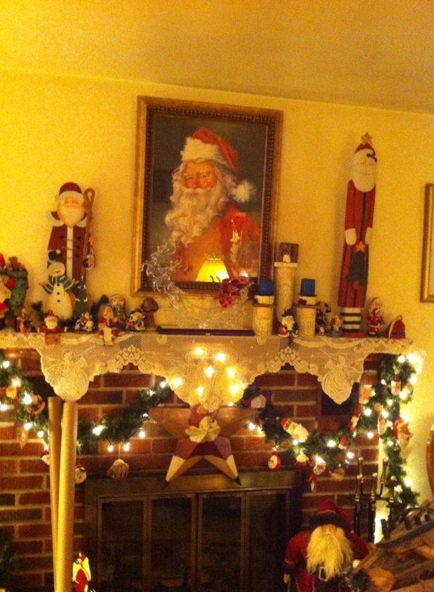 This picture of the Franzen's mantel was taken by their daughter, Shannon McCray, on Christmas morning 2016.
