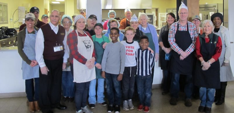 The volunteers who served meals to those in need on Thanksgiving at St. Susan Center. Around 25 people volunteered during the holiday. P-J photos by Dennis Phillips