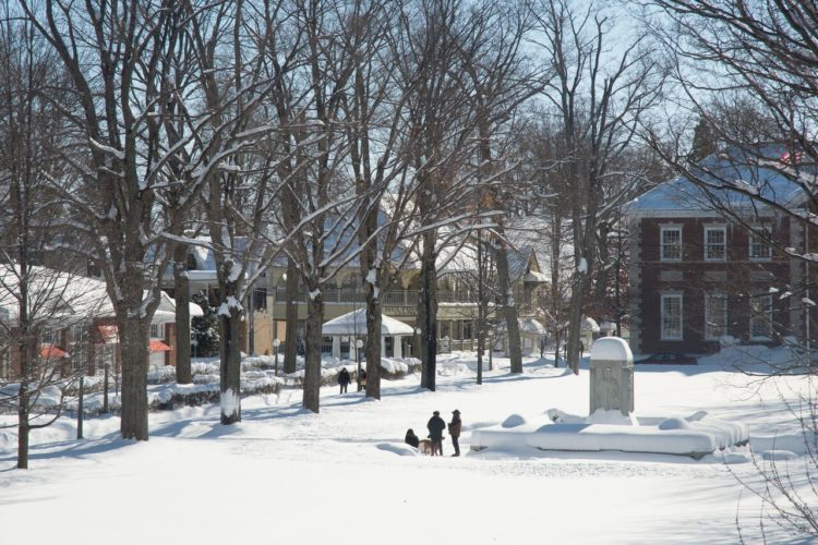 Bestor Plaza at Chautauqua Institution will host the Winter Village at Chautauqua beginning today from 11 a.m. to 8 p.m.  Submitted photo
