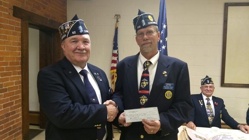 From left are Jim Lemanski, Dunkirk Memorial Post 62 Commander, and Paul Oyer, Chautauqua County American Legion commander.