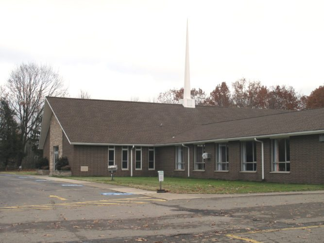 """Pictured above is Hillcrest Baptist Church in Jamestown. Local church leaders say they have learned to adapt in different ways to keep their core missions intact and to ensure the needs of attendees are met. """"We are not afraid to try new things and allow new leaders to rise up,"""" said The Rev. Mark Hinman of Hillcrest Baptist Church in Jamestown, P-J photos by Katrina Fuller"""