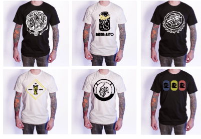 Buffalo State College student Matthew Walsh designed T-shirts related to Buffalo's history of breweries and prohibition. The project is part of his senior seminar class and is being titled Hops and Tops. His showcase is being displayed at Sugar City Art Collection on Niagara St. in Buffalo this week. Submitted photos