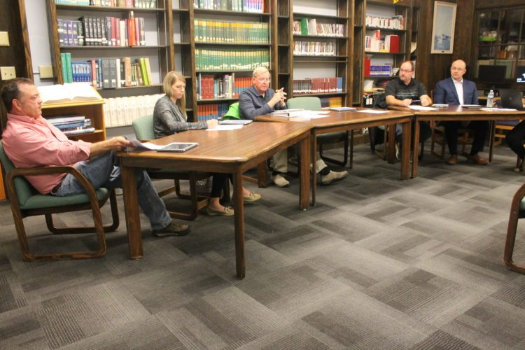 Bert Lictus, far right, resigned his position as Clymer Central School superintendent on Tuesday. Lictus was Clymer's superintendent as part of a shared position with Panama Central School.