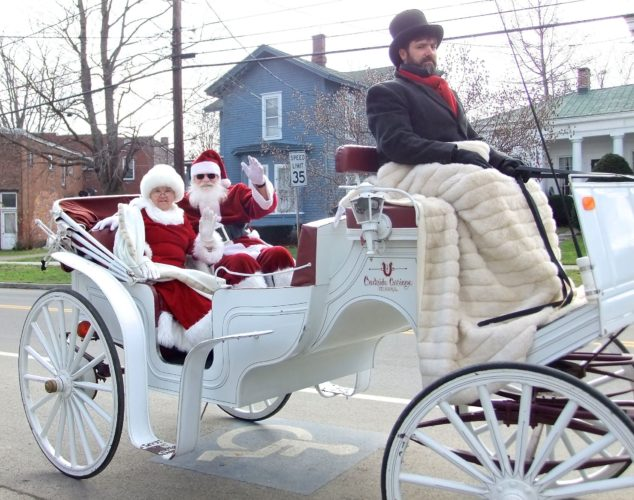 Randolph's Country Christmas weekend kicks-off Friday and runs through Sunday. Santa and Mrs. Claus will be the star attractions of the Christmas parade, Saturday at 6 p.m. Photo by Deb Everts