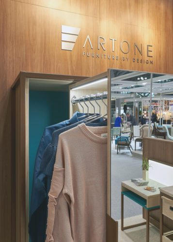 Artone's closet unit that was named a finalist for Best of BDNY Product Design Competition in the furniture category at the Boutique Design New York trade show. Submitted photo