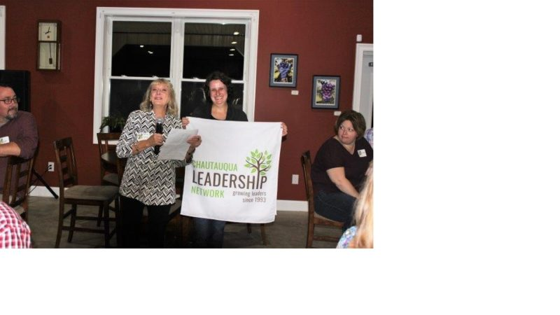 Pictured, from left, are Kathleen Colby, Chautauqua Leadership Network member, and Erika Colby, freelance creative designer.