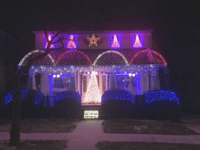 The elaborate annual Christmas lights display at 157 Newton Ave., which has been a neighborhood tradition for the past decade, will be shown for the final time this Christmas season. P-Jphoto by Eric Tichy