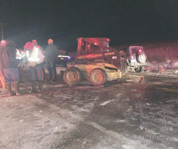 Several Injured After Jeep Strikes Skid-Steer In Sherman On Friday