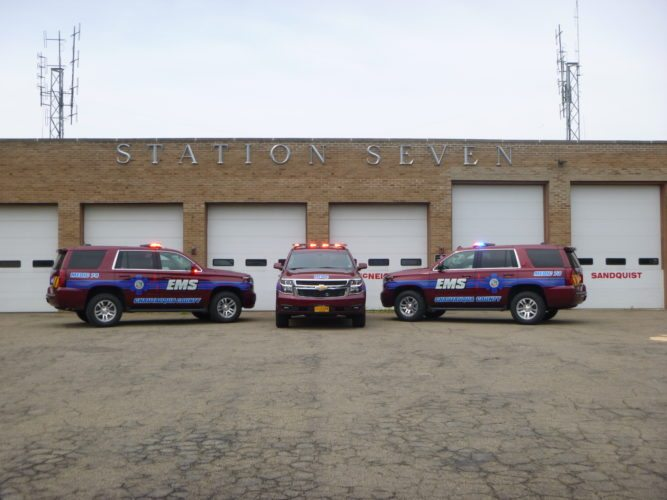 In just a few months, Chautauqua County's emergency services vehicles have responded to 365 calls for assistance. The vehicles, which provide advances emergency care and personnel, assist local fire departments in the county. Submitted photo