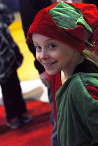 Leah Waite, a third grader who attendees C.C. Ring Elementary School, at the Y's Santa's Family Workshop, which was held at the Y's Downtown Branch, Dec.1.