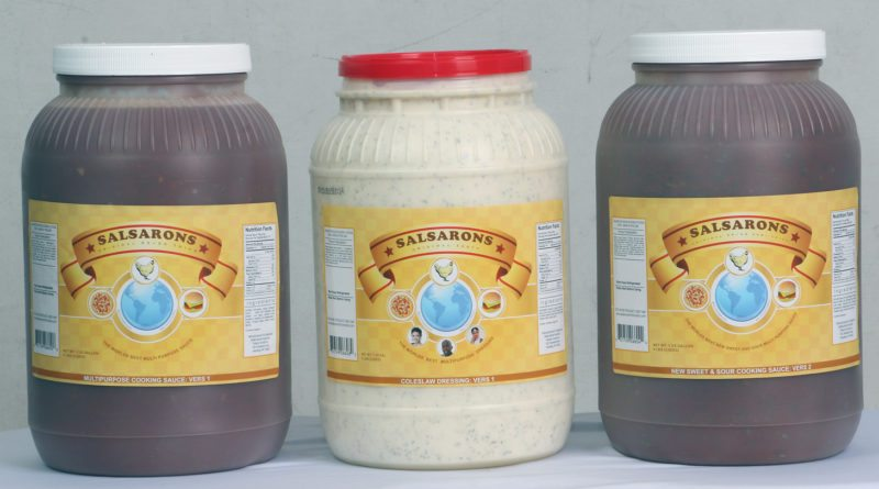 Sauces and dressings produced by Salsarons Multicultural Food Products. Ron Vaughn, owner of Salsarons Multicultural Food Products, said the process is in motion to bring Salsarons' dressings and sauces to cafeterias and restaurants around the area.  Submitted photo