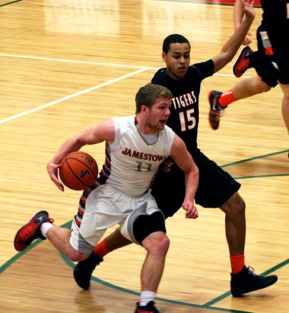 Jamestown's Zack Panebianco finished third in school history in scoring, third in assists, first in 3-pointers made and sixth in steals. P-J file photo