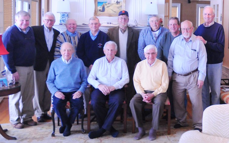 Members of the Jamestown-area chapter of the Detroit Tigers Fan Club welcomed former Tigers' pitcher Fred Scherman for lunch at the Lakewood home of Greg Peterson on Wednesday. Scherman, seated center, was the left-handed ace of Detroit's bullpen in the early 1970s, highlighted by earning 12 saves for the American League East champions in 1972 and setting the club record for appearances with 69 in 1971. P-J photo by Scott Kindberg