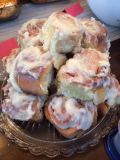 Sharon Stillman will soon be baking these Cinnamon Rolls for her new friends in Poland, as she has for the friends she has met all over the world.
