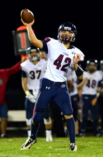 Franklinville/Ellicottville quarterback Brock Blecha threw for 1,308 yards and 15 touchdowns while running for 619 yards and 15 touchdowns this season. P-J photo by Scott Reagle