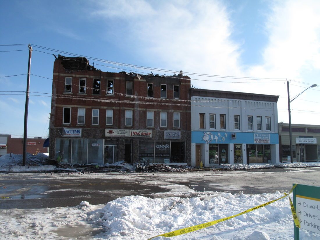 A second fire in Falconer damaged more downtown businesses and residences on Sunday. On Monday, the community came together to support one another in what will be another time of need.  P-J photos by Katrina Fuller