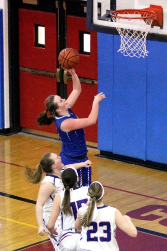 Panama's Natalie Angeletti and the rest of the Lady Panthers remain atop the New York State Sportswriters Association Class D basketball poll this week. P-J file photo