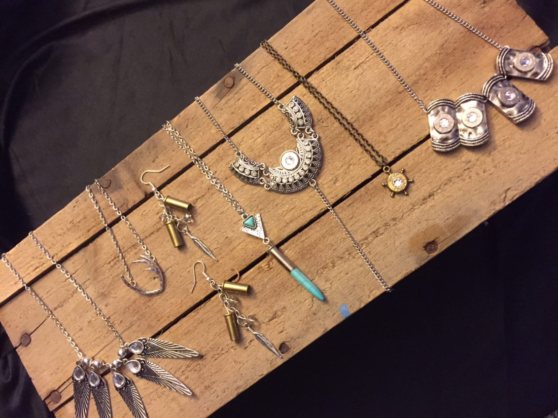 Alyssa Crossley incorporates shell casings, fishing lures and more into her jewelry designs.