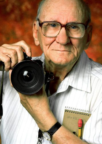The photojournalism work of the late Jack Berger will soon be on display at the Randolph Historical Society. His family recently donated 24 albums filled with his newspaper work. Shown is Jack Berger, in 1999. Photo courtesy of Duane Berger Photography