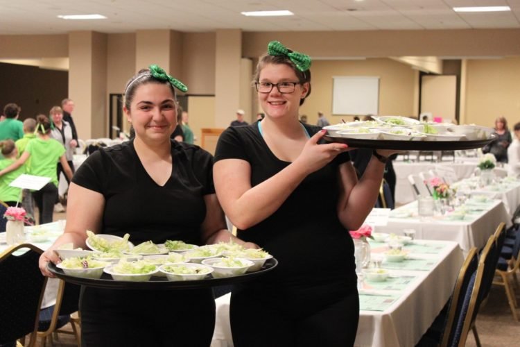 4-Hers are pictured preparing for the 2016 Green Tie Affair. The 2018 event will begin at 3 p.m. Sunday, Feb. 25, at the Chautauqua Inn and Suites in Mayville.