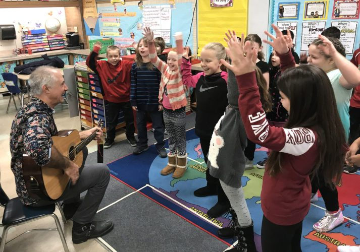 Kennedy Center Teaching Artist Stuart Stotts recently visited Ring Elementary School where he taught students to write lyrics. Stotts used music, lyric writing and movement to engage and motivate students.