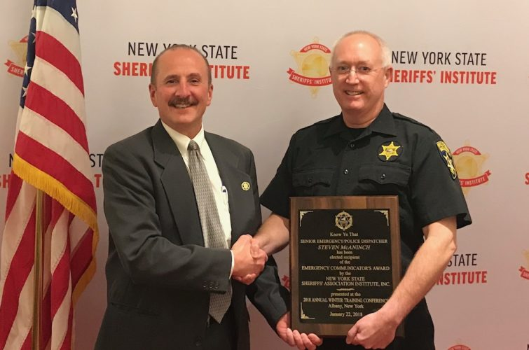 "Steven McAninch has been awarded the ""Emergency Communicator of the Year"" by the New York State Sheriffs' Institute. Submitted photo"
