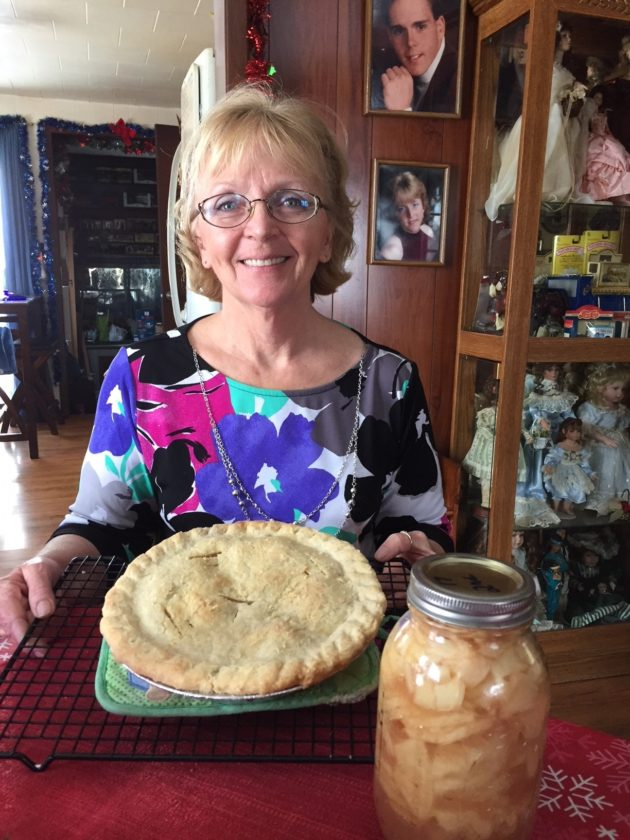 Baking pies with flakey crust is no problem for Cora Morrison. She even cans her own apple pie filling.