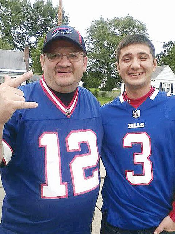 Cody Crandall, right, and his father, John, prepare for a Sunday road trip to see the Buffalo Bills at New Era Field. Photos courtesy of Cody Crandall
