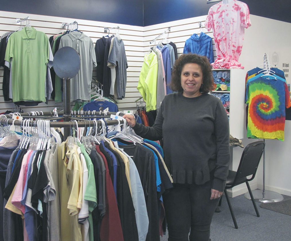 Andrea Conklin, Image Embroidery owner, is the new owner of the Lakewood business located at 117 Chautauqua Ave. The business is open from 9 a.m. to 4 p.m. Monday through Friday. P-J photo by Katrina Fuller