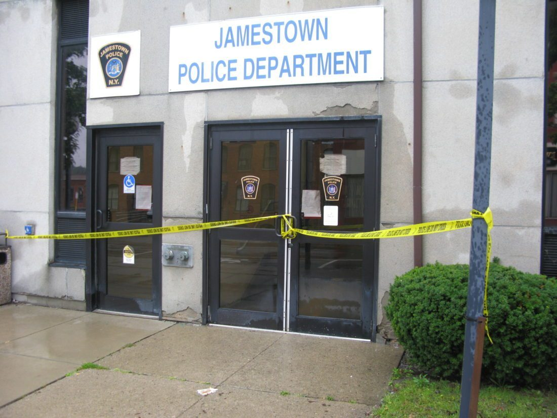 The Jamestown Police Department received flood damage during the renovation project to Tracy Plaza this past fall. P-J file photo