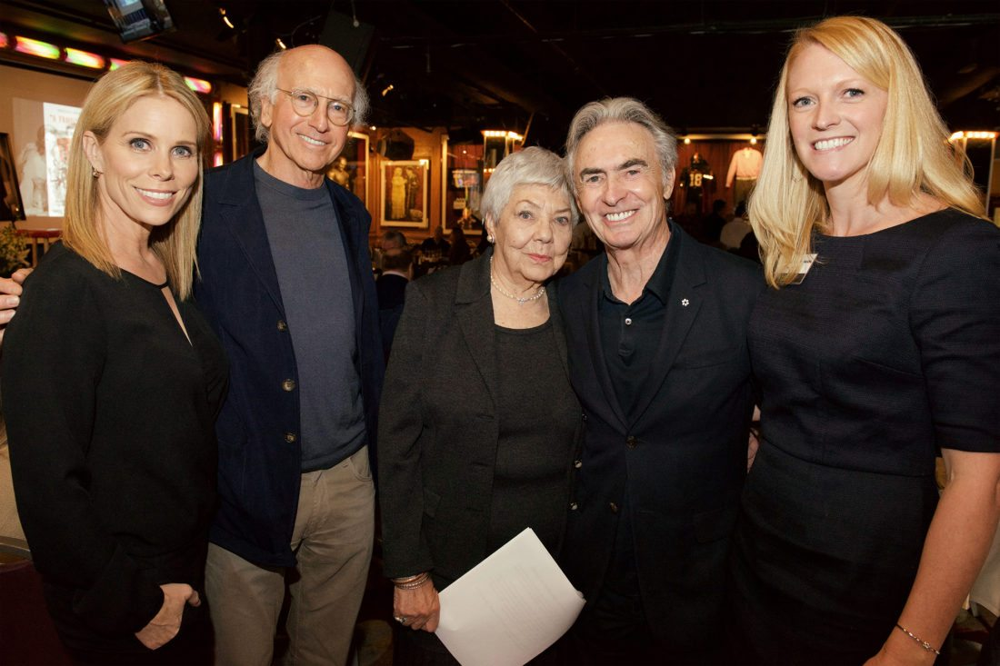 Pictured, from left, are Cheryl Hines, Larry David, Sarah Berman, David Steinberg and Journey Gunderson.