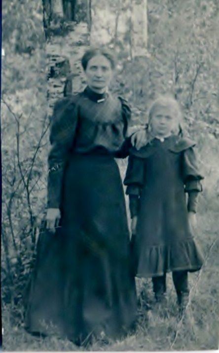 My grandmother Gunhild with her mother Maria, Karlskoga, circa 1908.