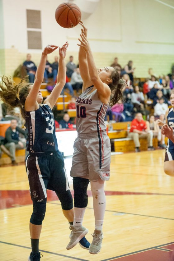 Sophomore Gianna Hoose is one of three reserves who provide valuable minutes off the Trojans' bench. P-J file photo.