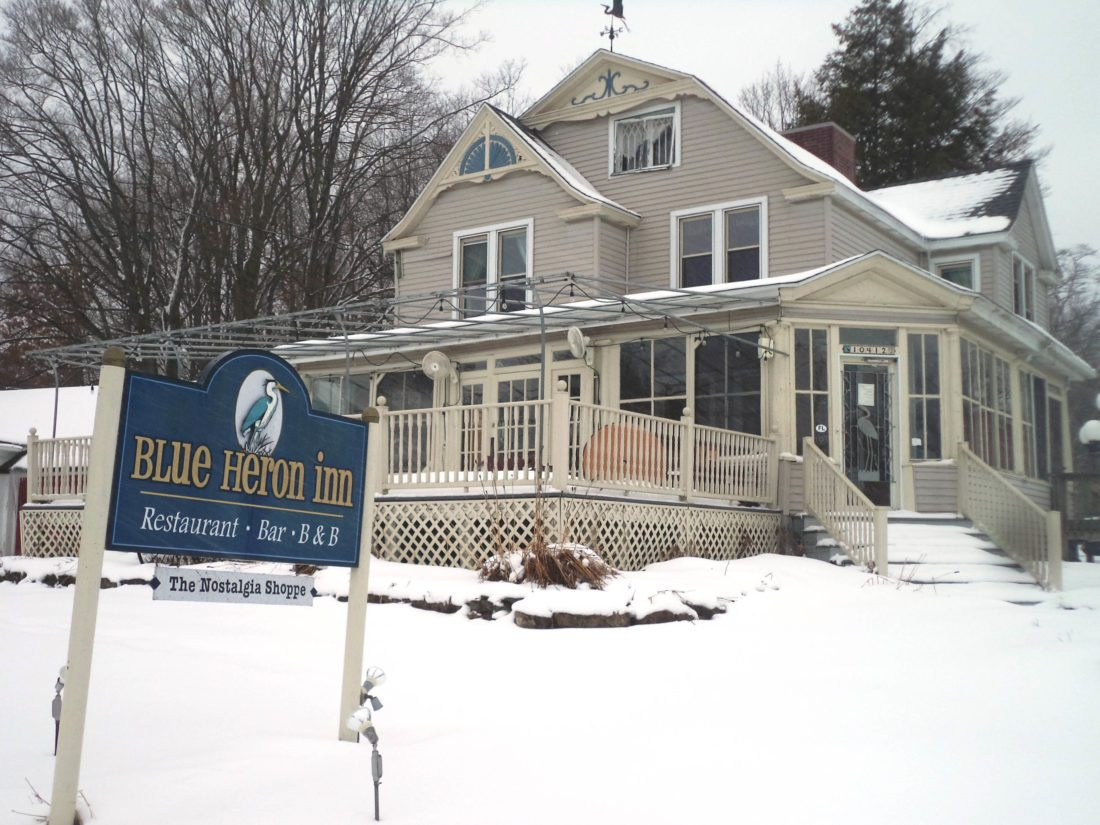 The Blue Heron Inn is pictured in Findley Lake. The eatery and bed and breakfast, along with the shoppe, have been owned by Bruce and Tobi Ahlquist for 20 years. Photo by David Prenatt