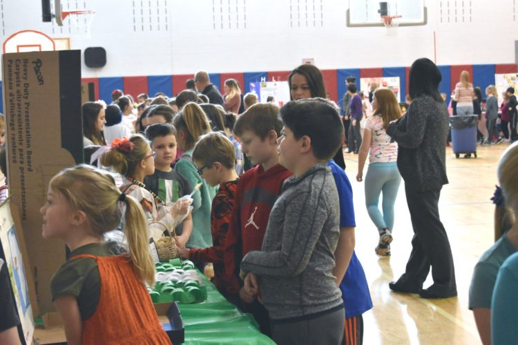 Southwestern Elementary School hosted its 12th Annual Multicultural Fair on Friday. Students lined the outside of the gymnasium with tri-fold posters that detailed which country they were representing. Parents were invited as well to view the different countries the students were tasked with researching. P-J photos by Jordan W. Patterson