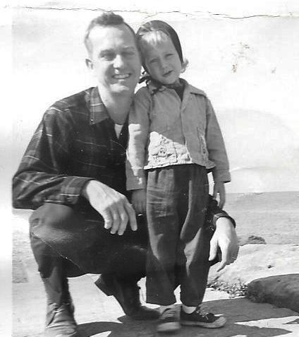Dad with Vicky, 1960.  Family archives