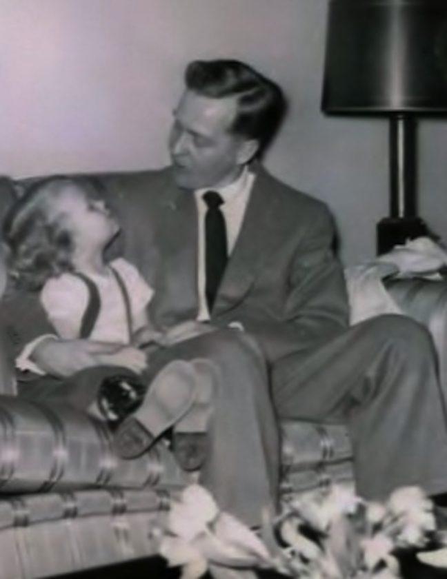 Sandy and dad, circa 1953.