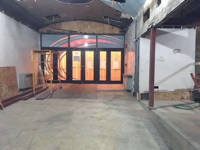 The Reg Lenna Center for the Arts theater lobby is currently being renovated, which will include the removal of the concession stand and the multilevel floor. Funding for the project is coming from several sources, including part of the state's Downtown Revitalization Initiative program.  Submitted photo