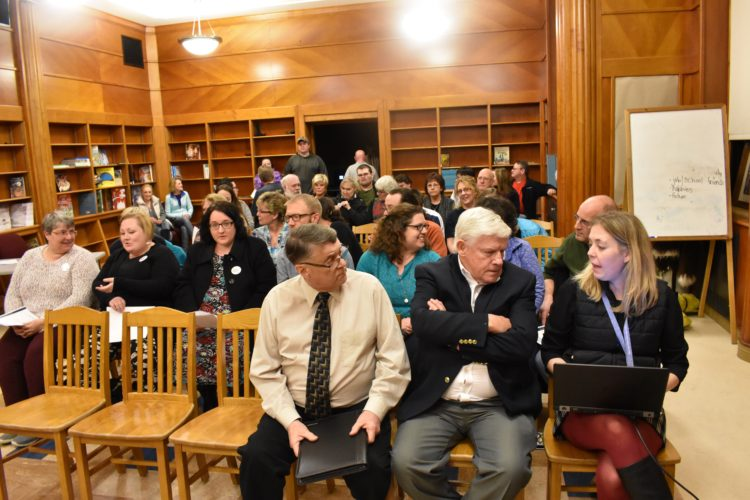 The crowd pictured during Thursday evening's meeting.