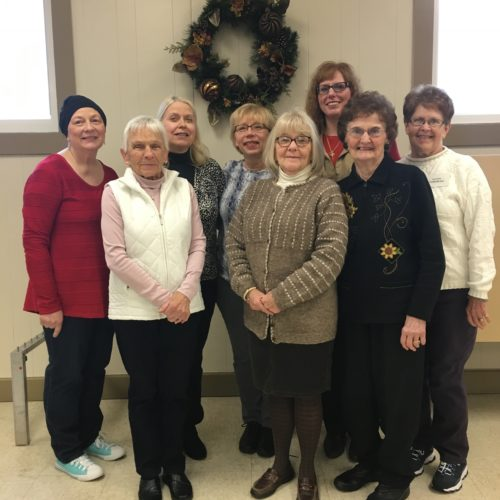 Pictured, from left, are the 2018 Allen Park Women's Club officers. In back row: Sandy Gullotti, co-president; Darlene Friend, first vice president; Carol Drake, secretary; Shannon Neubauer, co-president; Sandy Forsberg, co-treasurer. Front row:  Carol Winterburn and Julie Gable, second vice presidents; Betty Johnson, chaplain.