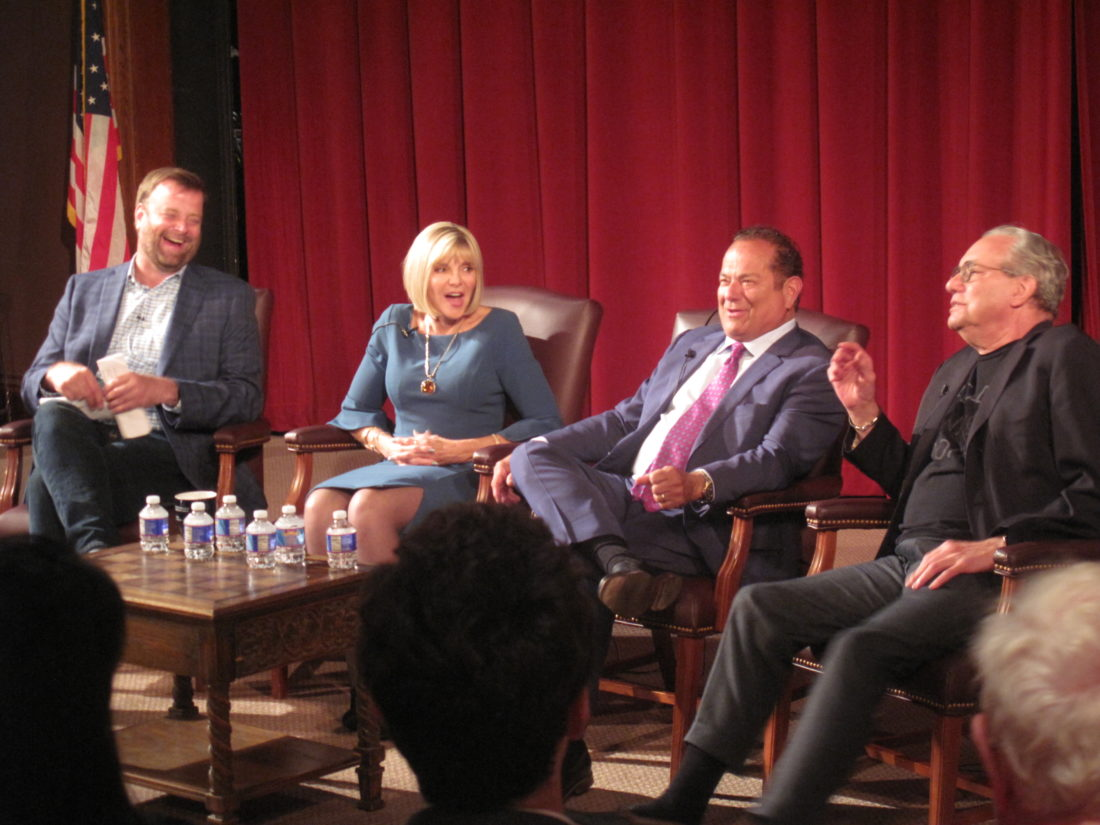 From Left, Moderator Stephen Morrison, Kitty Bruce, Attorney Paul Cambria,  Jr. And Comedian Lewis Black Laugh In Remembrance Of Lenny Bruce, ...