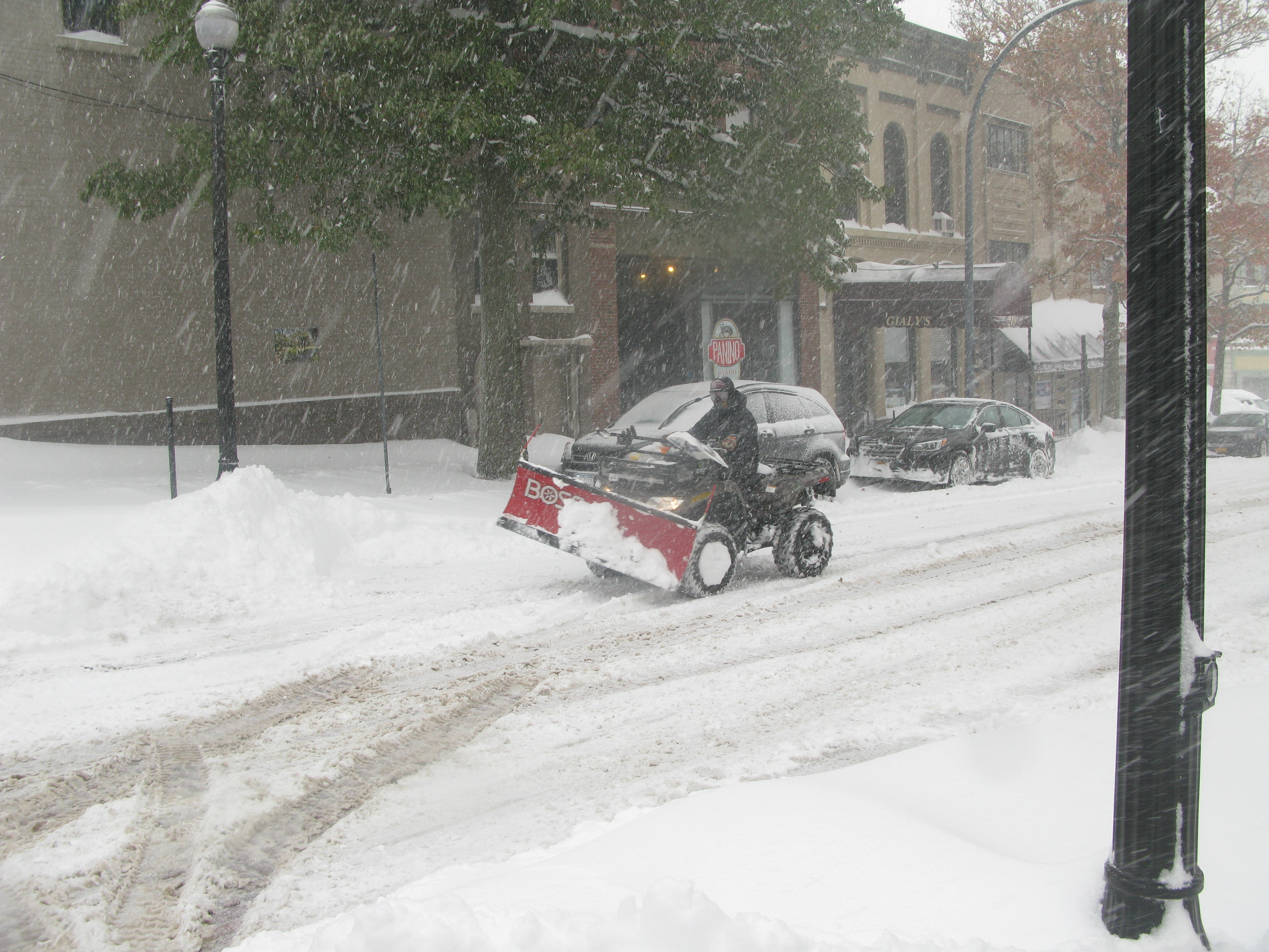 more than 17 inches of snow dumped on jamestown