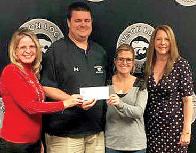 Teachers in the Edison Local School District who received Best Practice Grants include (from left) Kathy Ramsey of John Gregg Elementary, James Evans of Edison High and Mindy Carpenter, also of John Gregg, with Patty Ferrell, a coordinator at Jefferson County ESC. (Submitted photo)