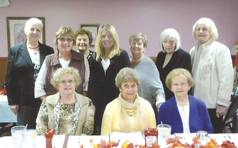 Pictured front (from left): Polly Mackall, Sue Boston, Velma Jackson; back: Marlene Flemming, Beverly Stevens, Mary Ann Wright, Patty Barnabei, Willie Balt, Joann Hobbs, and Kitty Binkowsky. (Submitted photo)